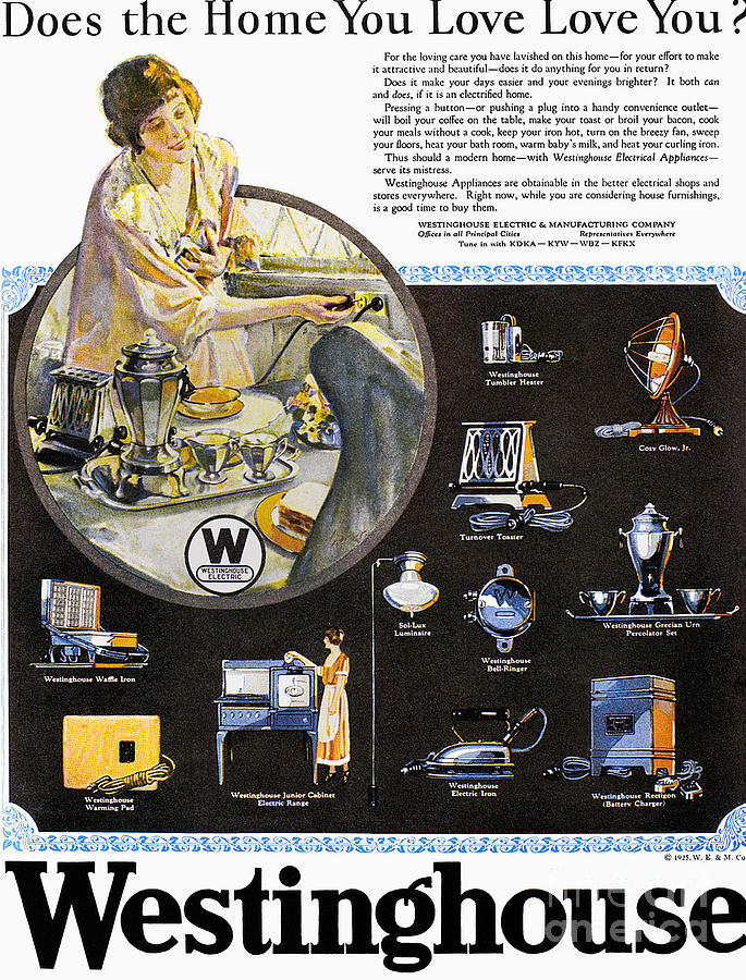 Westinghouse Ad, 1925 Photograph