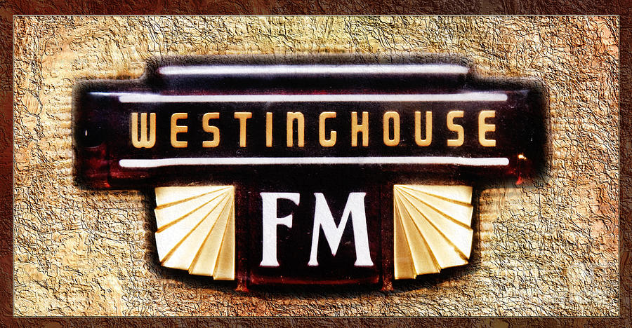 Antique Stereo Photograph - Westinghouse Fm Logo by Andee Design
