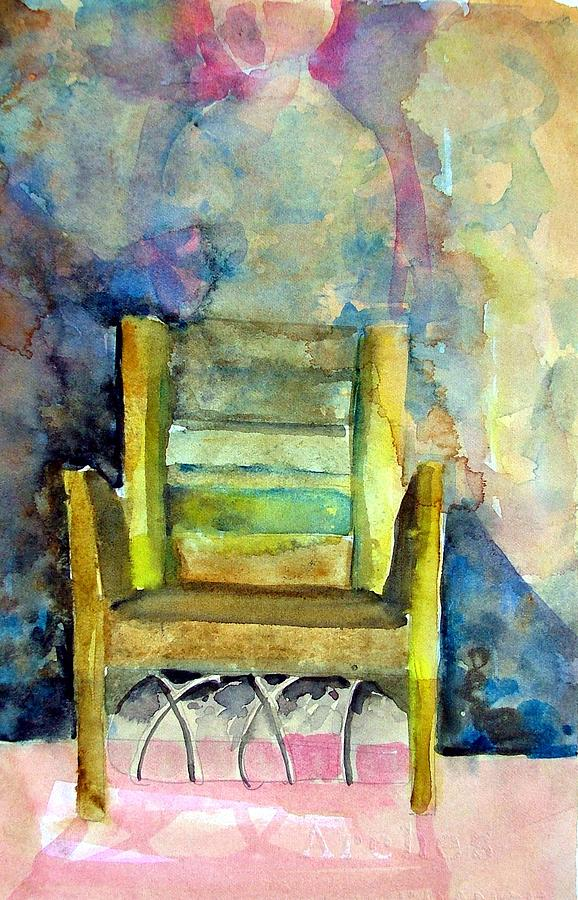 Westminster Abbey Queen Chair Painting