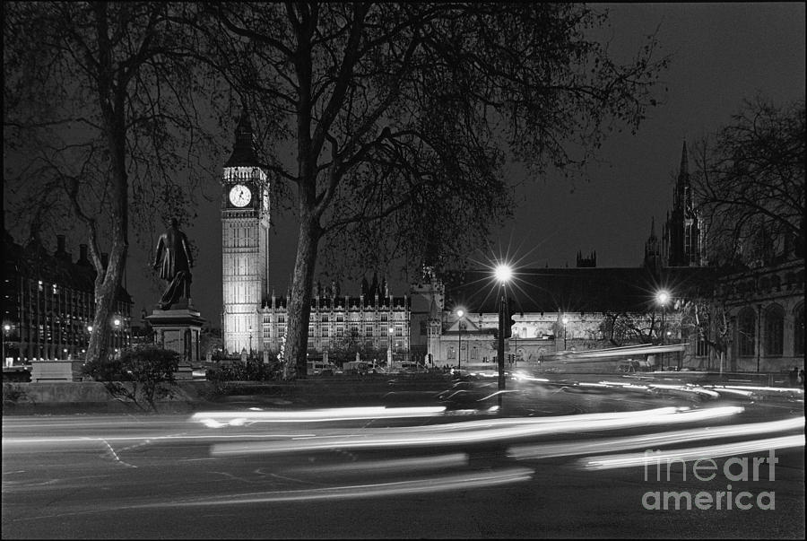 Westminster Night Traffic  Photograph