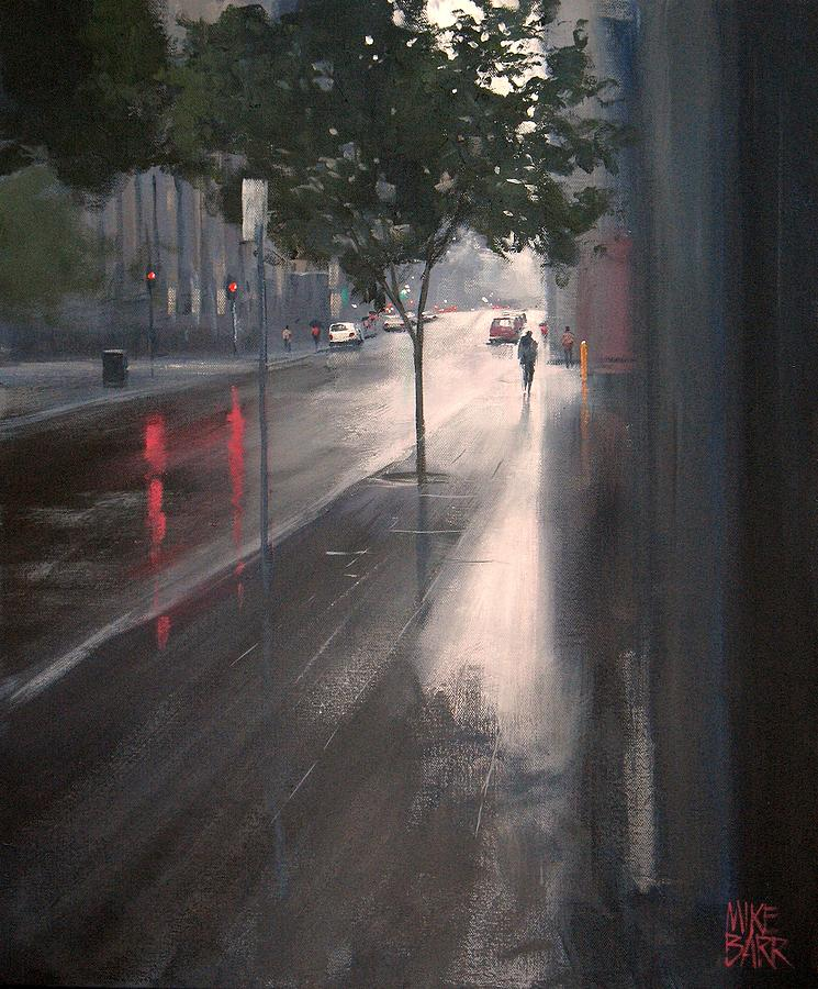Wet Melbourne Painting  - Wet Melbourne Fine Art Print