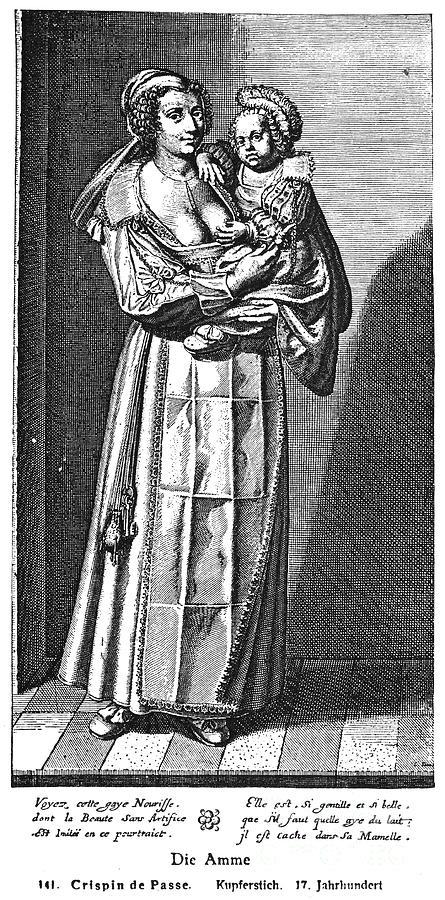 Baby Photograph - Wet Nurse, 17th Century by Granger