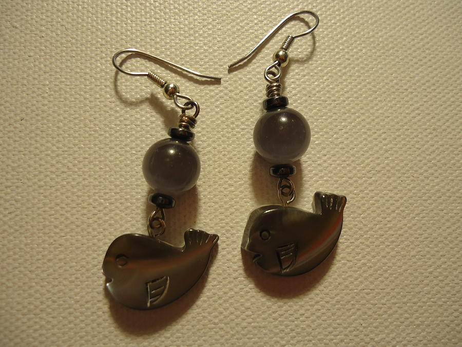 Greenworldalaska Photograph - Whale Around Earrings by Jenna Green