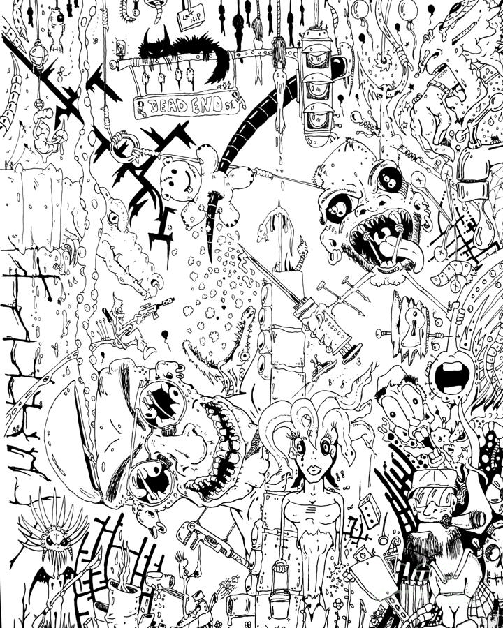What A Mess Drawing  - What A Mess Fine Art Print