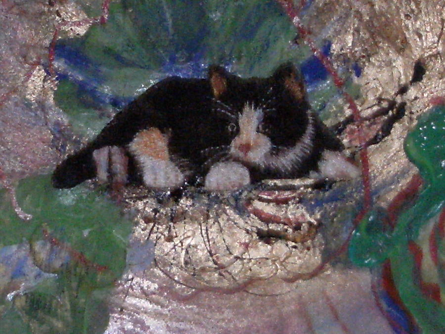 What A Pretty Kitty Mixed Media  - What A Pretty Kitty Fine Art Print