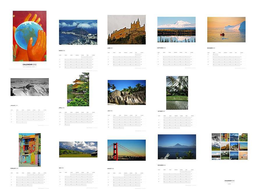 What A Wonderful World Calendar 2012 Photograph by Juergen Weiss