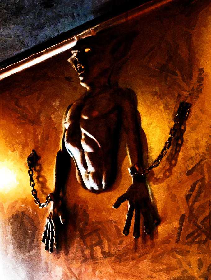 demon digital art what are you hiding in your basement by steve