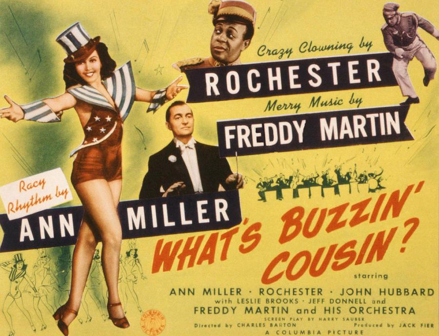 1940s Movies Photograph - Whats Buzzin, Cousin, Ann Miller by Everett
