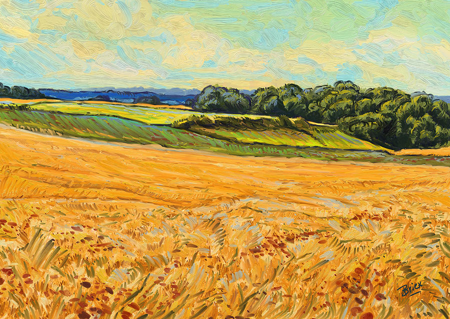Wheat Field In Limburg Painting