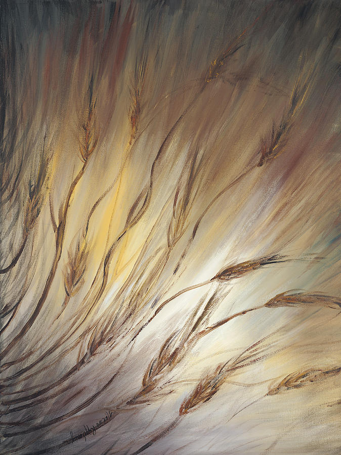 Wheat In The Wind Painting
