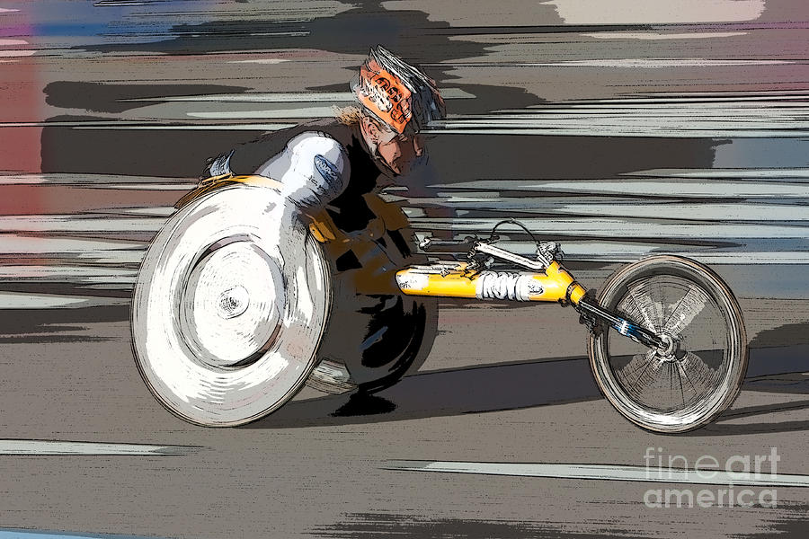 Wheelchair Racer Photograph