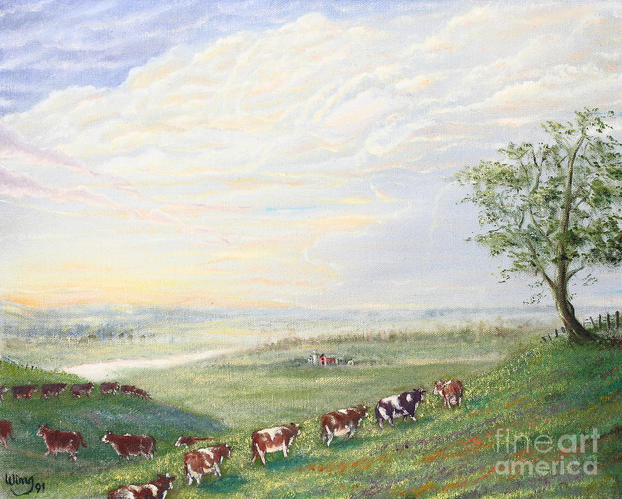 When The Cows Come Home 1991 Painting