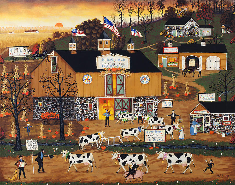 When The Cows Come Home Painting  - When The Cows Come Home Fine Art Print