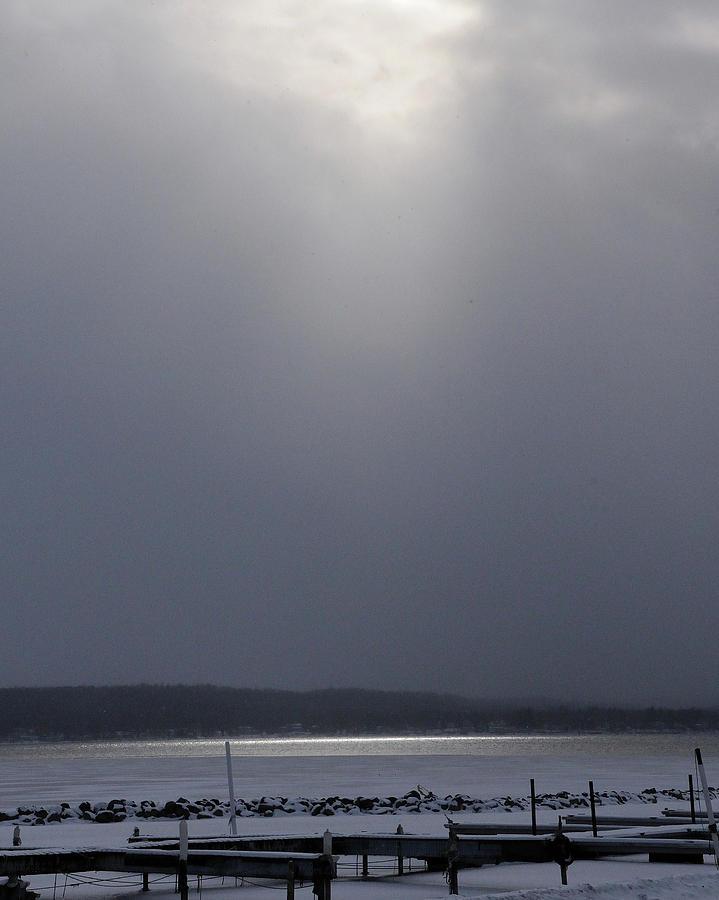 When The Sun Broke Through On Canandaigua Lake 2011 Photograph