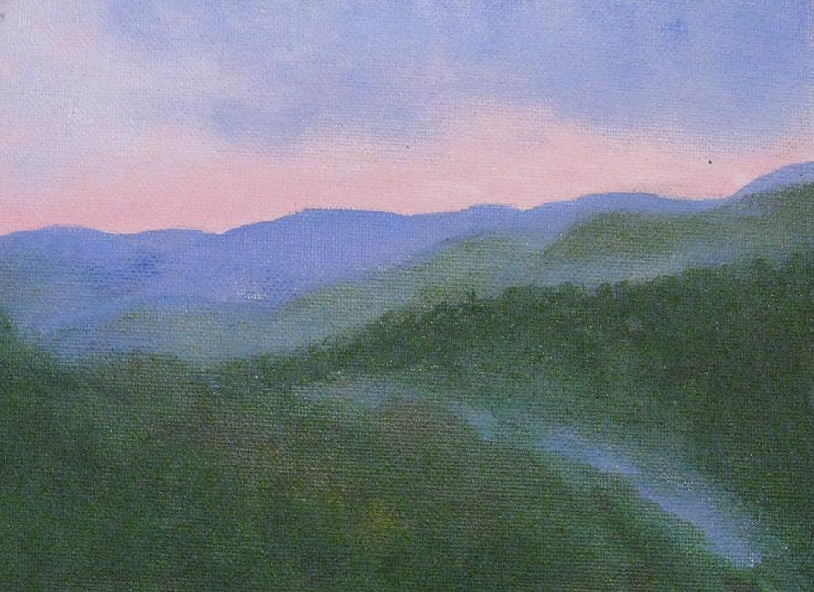 Where Mists Nestle Painting  - Where Mists Nestle Fine Art Print