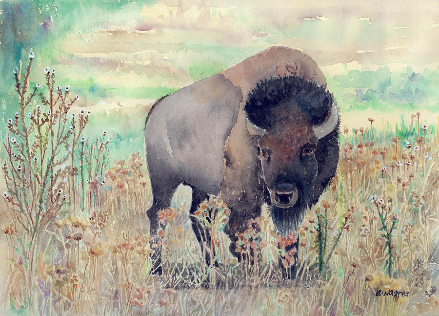Where The Buffalo Roams Painting  - Where The Buffalo Roams Fine Art Print