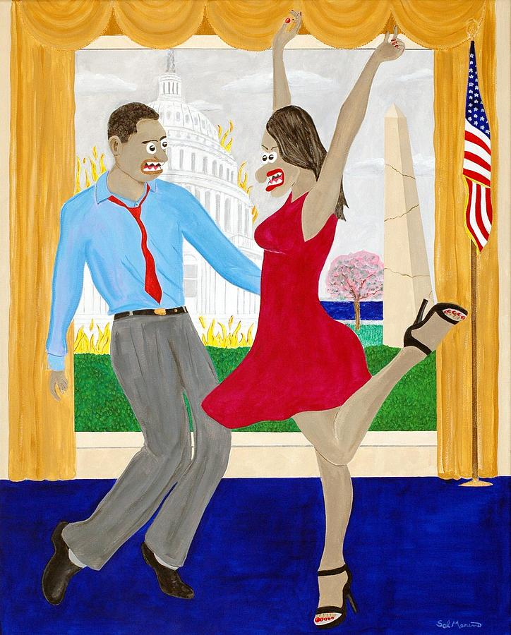 While America Withers Painting