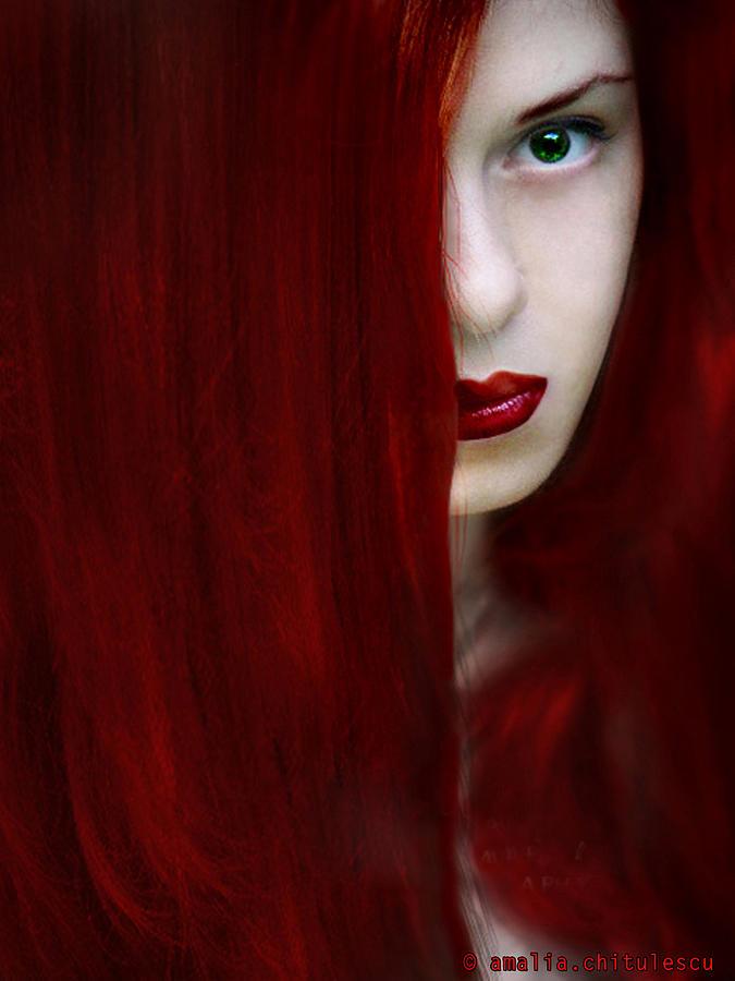 Amalia Iuliana Chitulescu Photograph - While Her Lips Are Still Red by Amalia Iuliana Chitulescu
