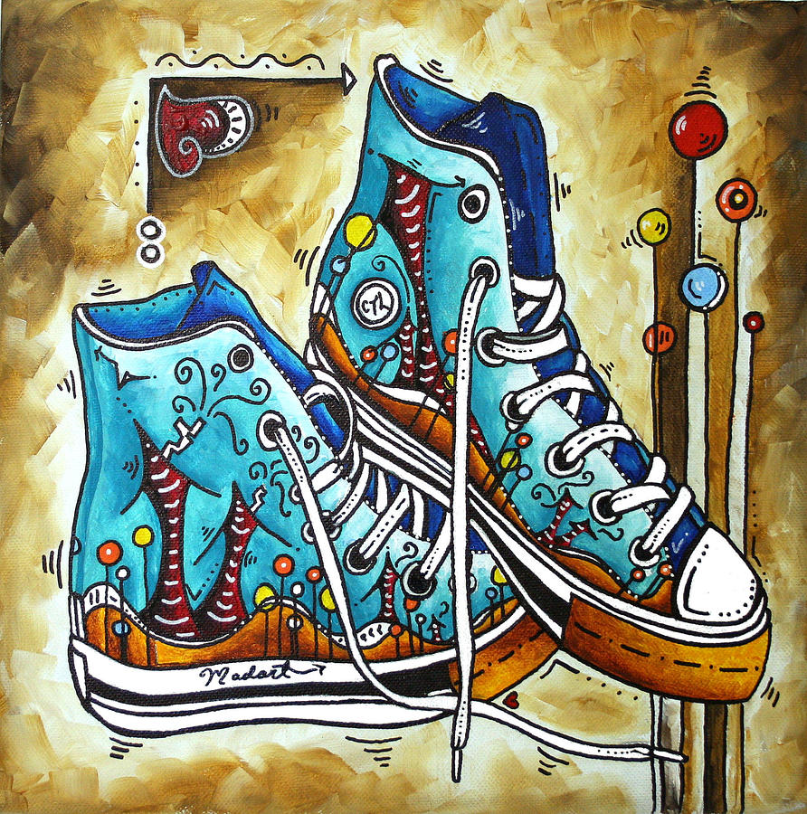 Whimsical Shoes By Madart Painting
