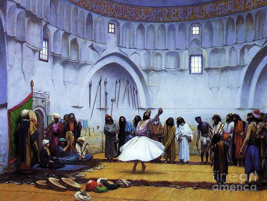 Whirling Dervishes Painting  - Whirling Dervishes Fine Art Print