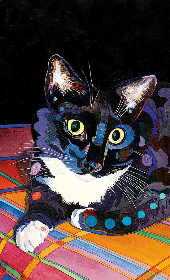 Cat Paintings Painting - Whiskers by Bob Coonts