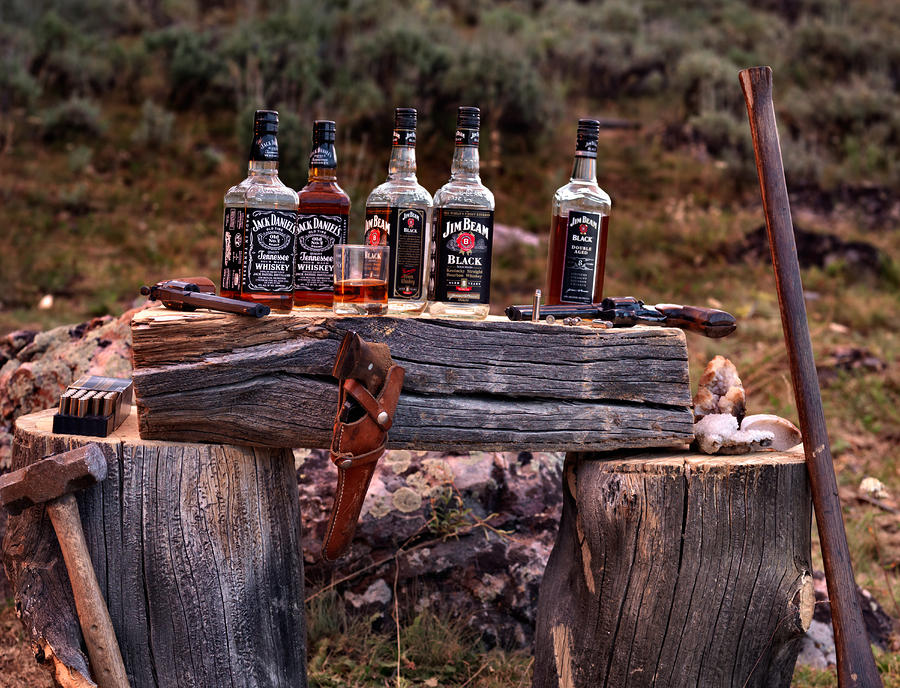 Whiskey And Guns Photograph