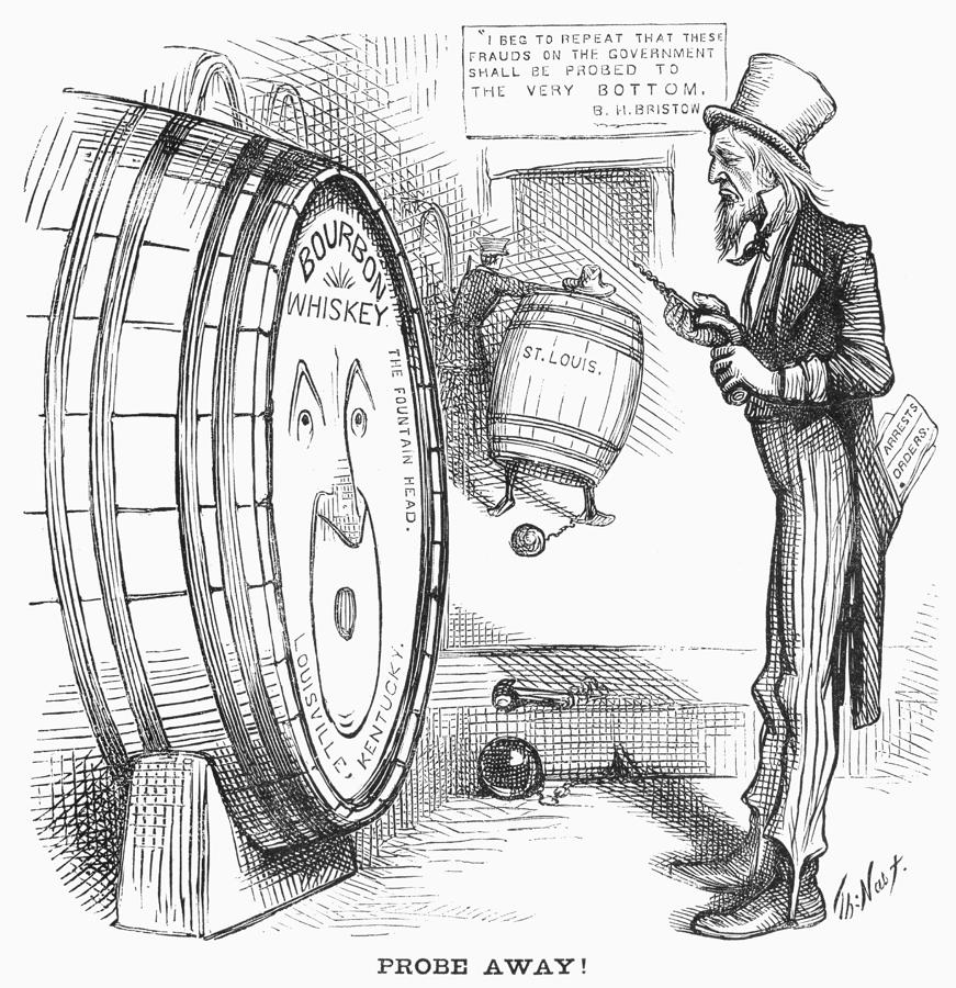 Whiskey Ring Cartoon, 1876 Photograph  - Whiskey Ring Cartoon, 1876 Fine Art Print
