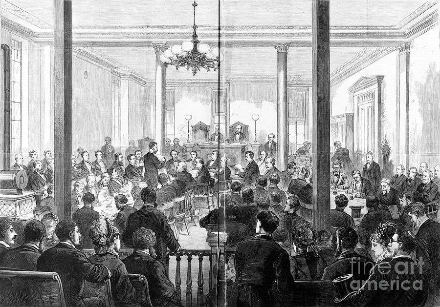 Whiskey Ring Trial, 1876 Photograph  - Whiskey Ring Trial, 1876 Fine Art Print