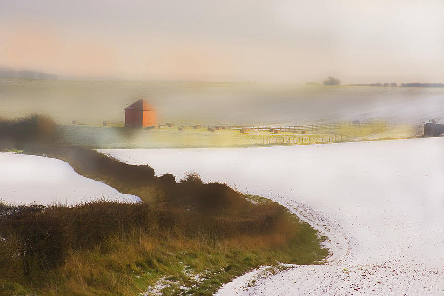 Whispy Winter Landscape Digital Art  - Whispy Winter Landscape Fine Art Print