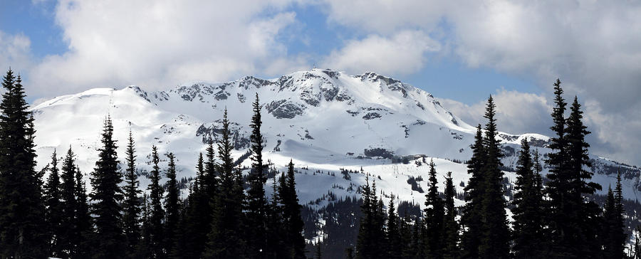 Whistler Mountain Peak View From Blackcomb Photograph