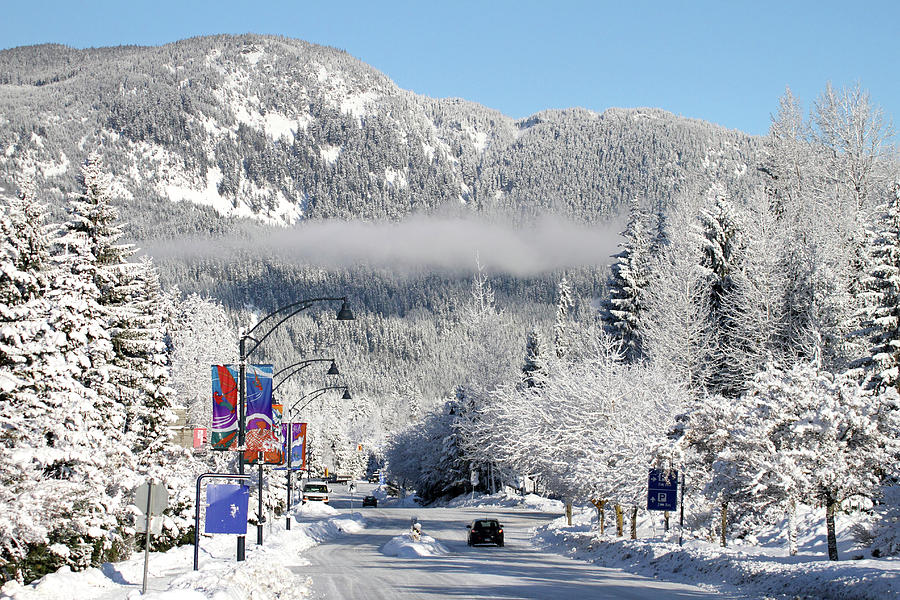 Whistler Village Snowy Winter Scene is a photograph by Pierre Leclerc ...