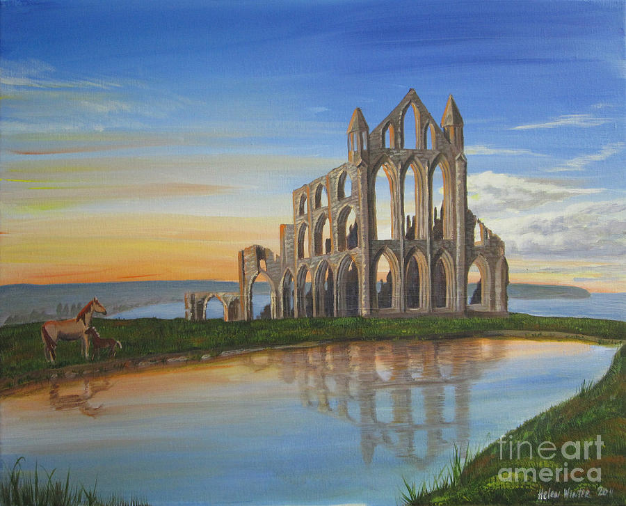 - whitby-abbey--sunset-helen-winter