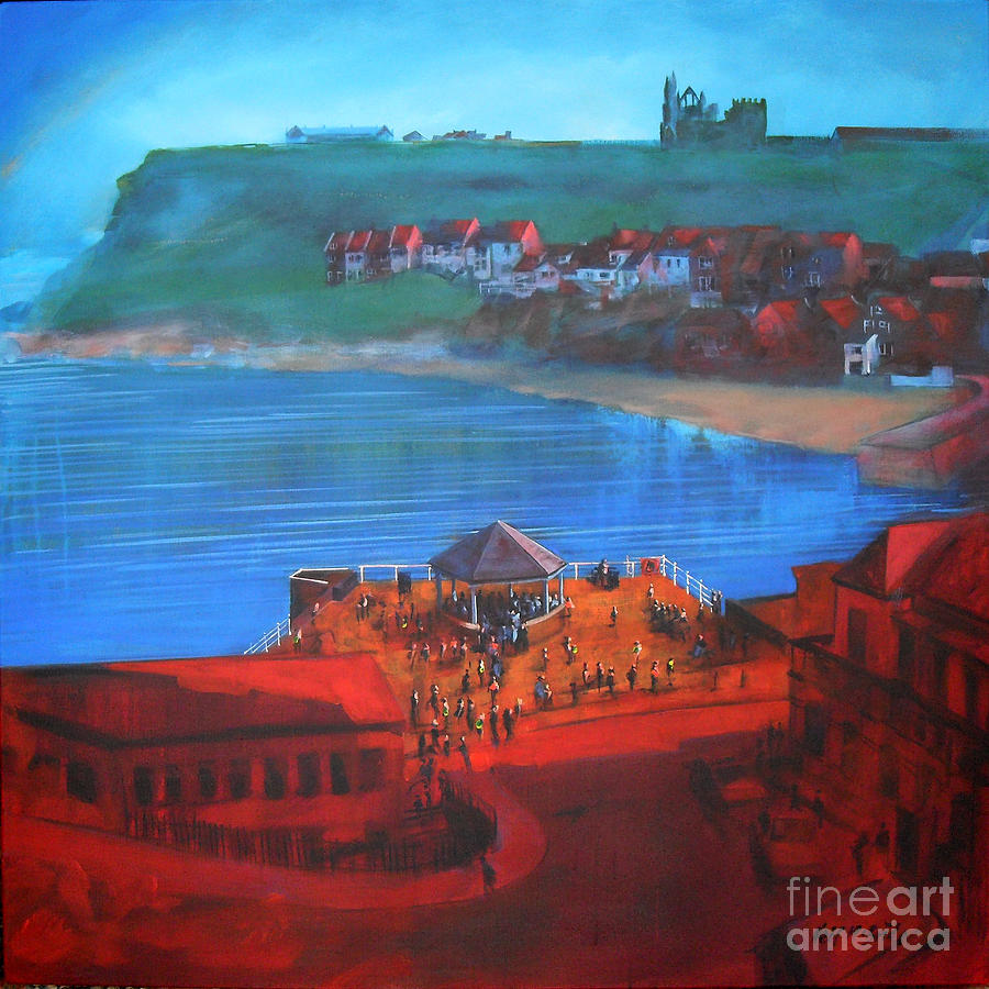 Whitby Bandstand And Smokehouses Painting