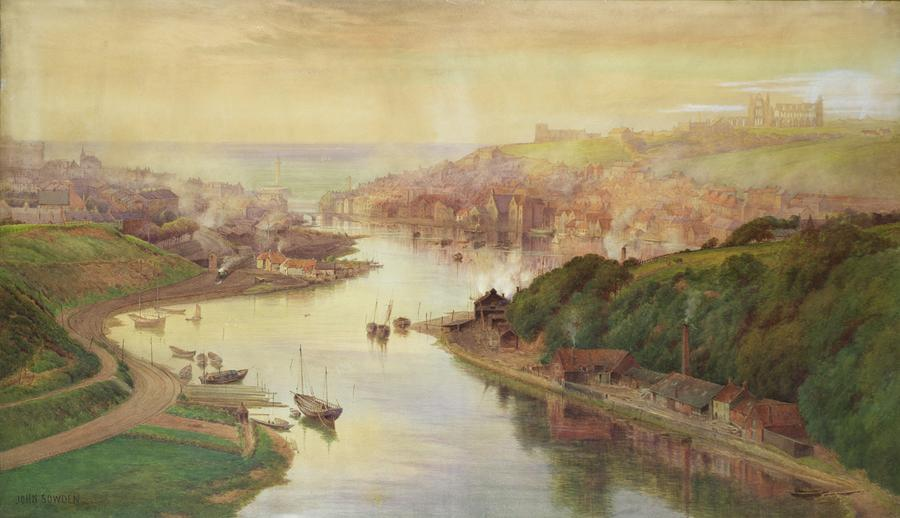 Whitby From Larpool Painting