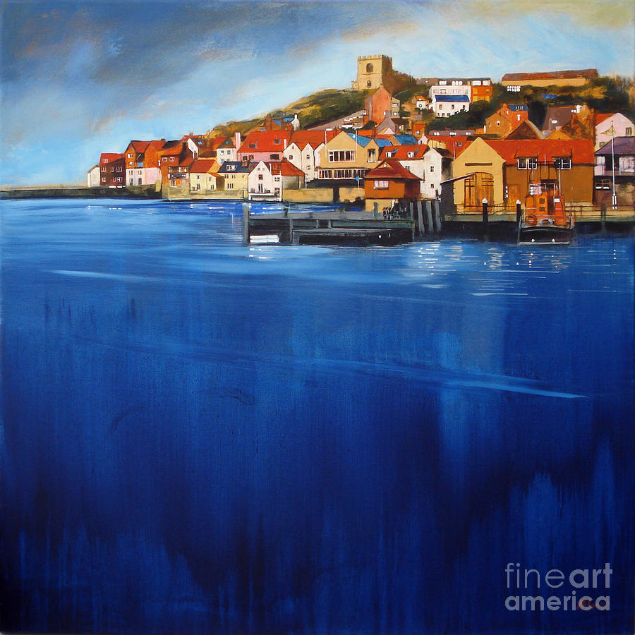 Whitby High Tide Painting  - Whitby High Tide Fine Art Print