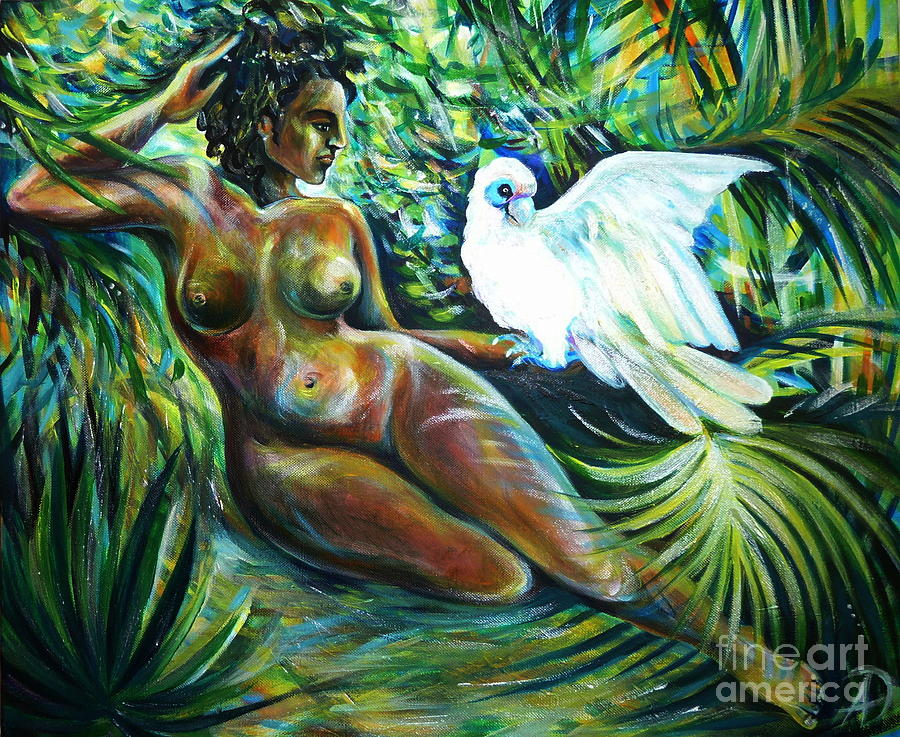 White Bird Painting  - White Bird Fine Art Print