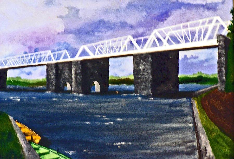 White Bridge   Painting  - White Bridge   Fine Art Print