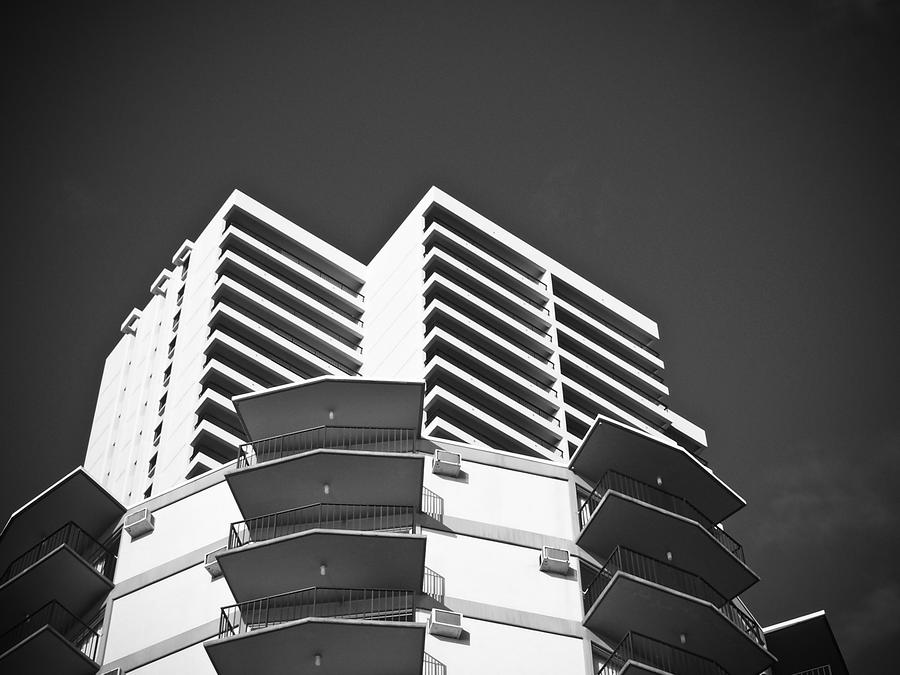 White Building To The Sky In Oahu Hawaii Photograph  - White Building To The Sky In Oahu Hawaii Fine Art Print