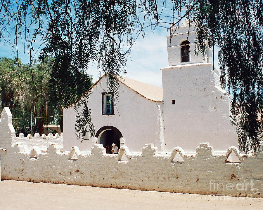White Church In Chile Photograph  - White Church In Chile Fine Art Print
