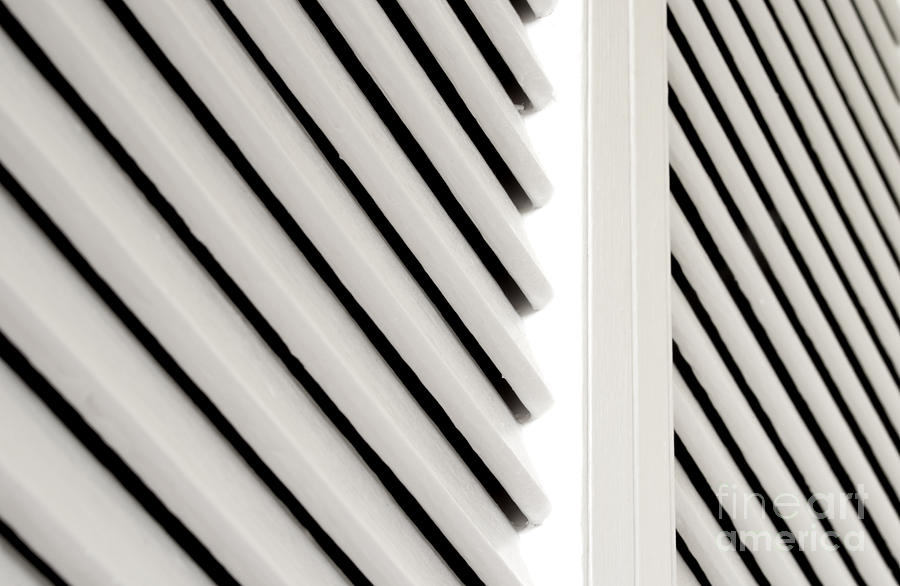White Closet Door Detail Photograph  - White Closet Door Detail Fine Art Print