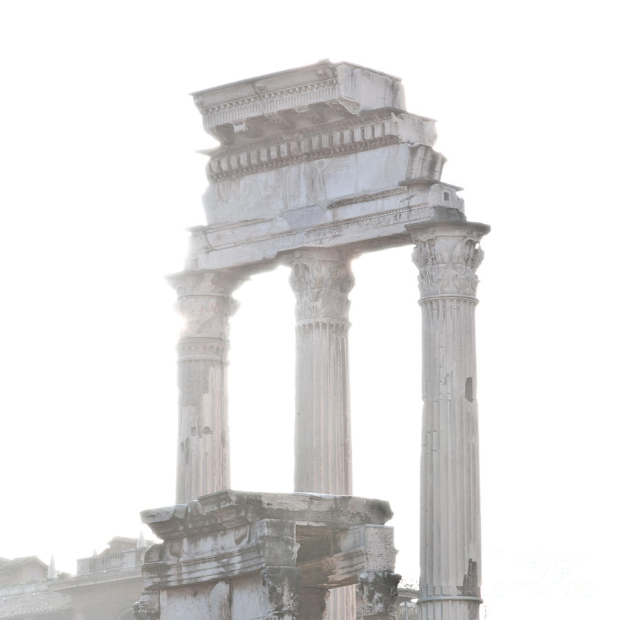 White Columns Temple Of Castor And Pollux In The Forum Rome Italy Photograph