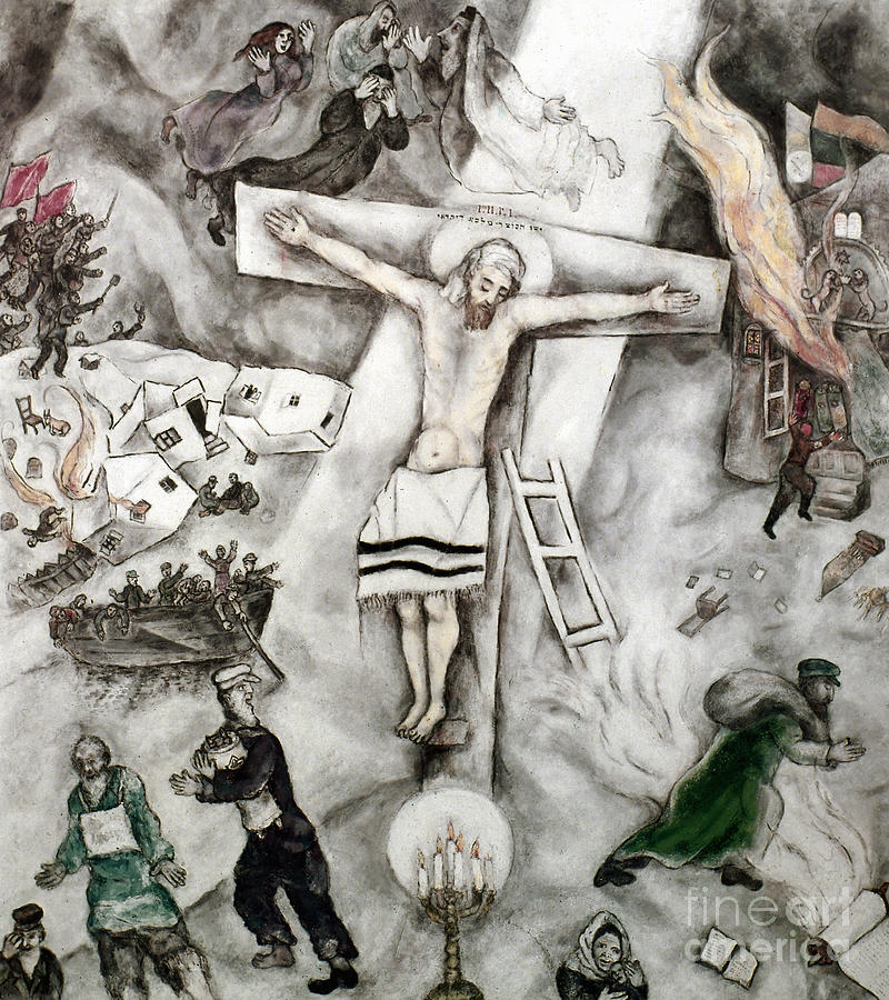 White Crucifixion Photograph  - White Crucifixion Fine Art Print