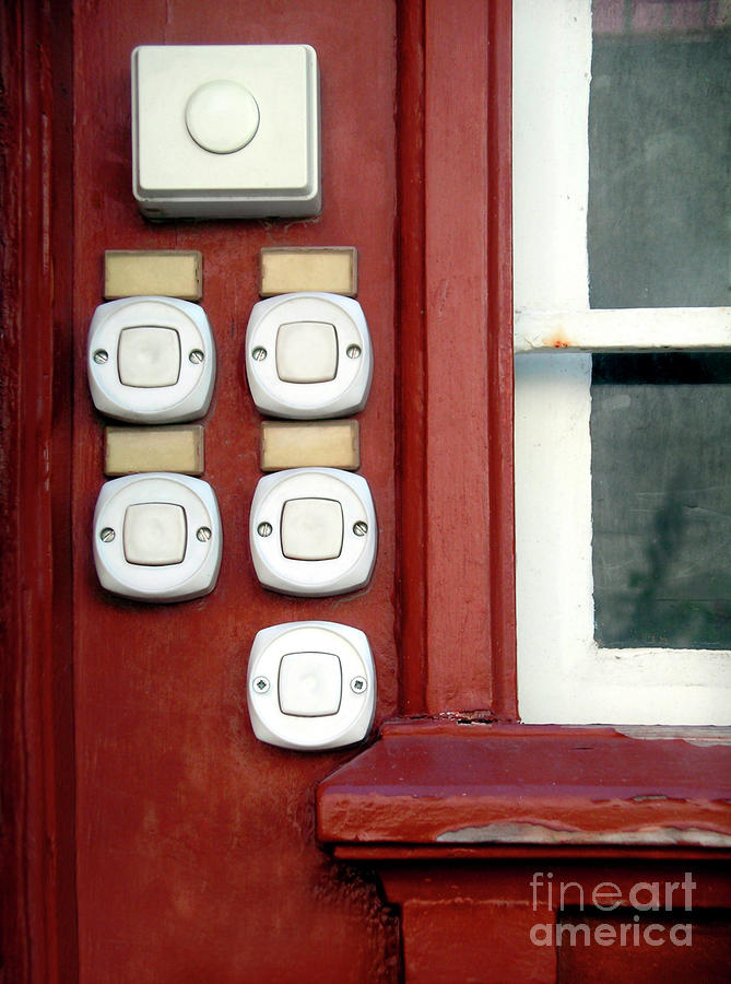 White Doorbells Photograph  - White Doorbells Fine Art Print