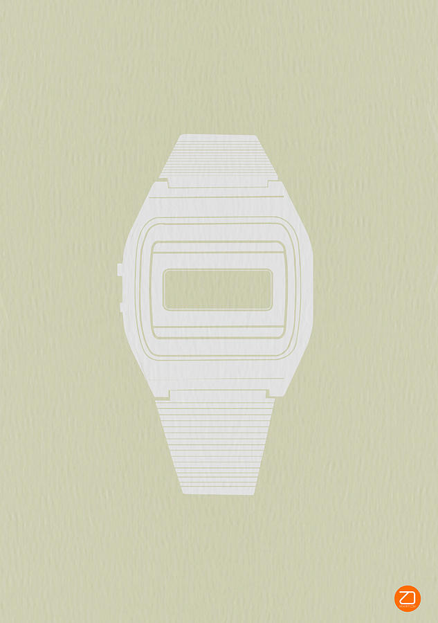 White Electronic Watch Photograph