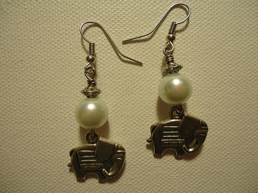 White Elephant Earrings Photograph