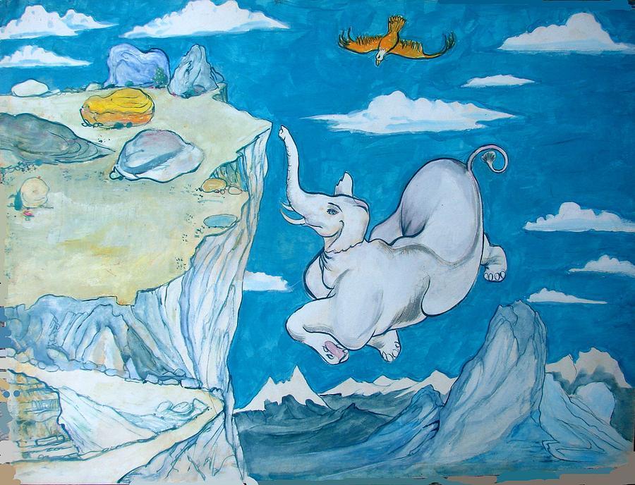 Jataka Painting - White Elephant by Scott Cumming