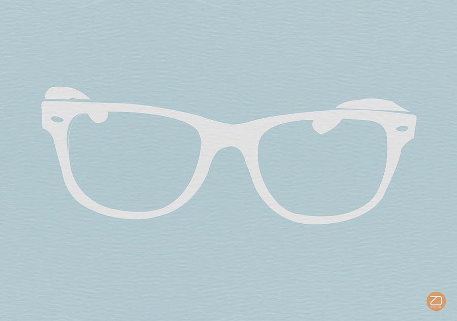 White Glasses Digital Art