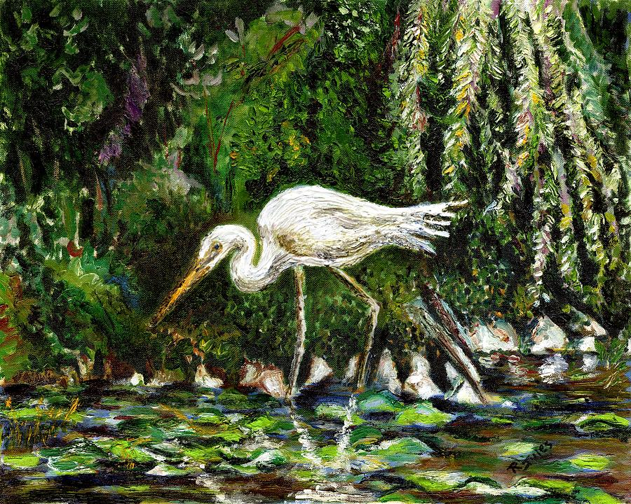 White heron painting by richard jules for White heron paint