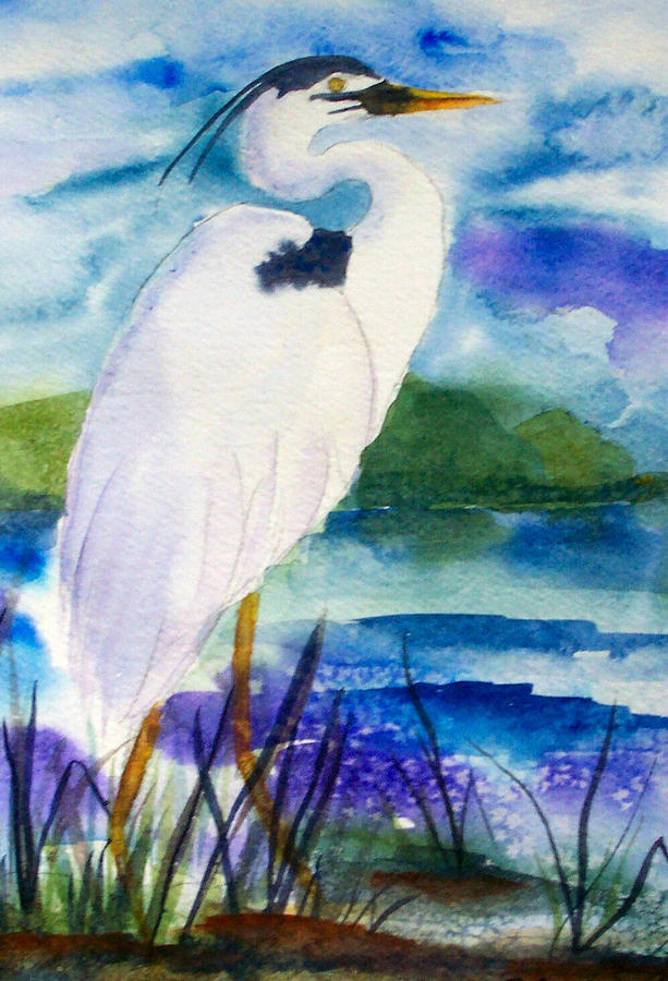 White heron by ruth bevan for White heron paint