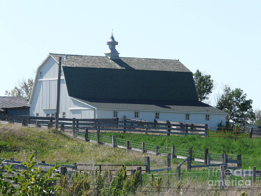 White Hip Roof Barn Nd Photograph By Bobbylee Farrier